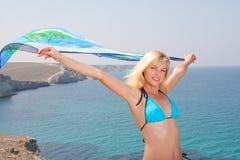 γυναίκα σαρόγκ Στοκ φωτογραφία με δικαίωμα ελεύθερης χρήσης