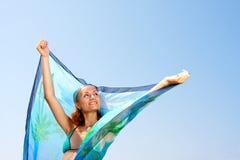 γυναίκα σαρόγκ Στοκ φωτογραφίες με δικαίωμα ελεύθερης χρήσης