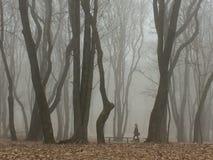 Γυναίκα σε ένα πάρκο στοκ φωτογραφία