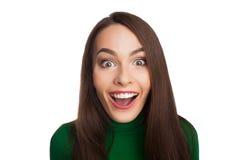 Γυναίκα σε ένα πράσινο turtleneck στοκ φωτογραφία με δικαίωμα ελεύθερης χρήσης
