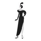 Γυναίκα σε ένα φόρεμα των 20 ` s ελεύθερη απεικόνιση δικαιώματος