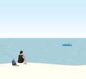 Γυναίκα σε διακοπές Στοκ Εικόνες