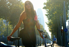 Γυναίκα σε Barcelon στοκ φωτογραφίες
