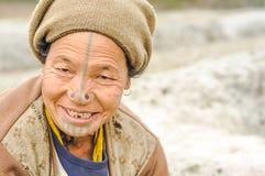 Γυναίκα σε Ziro σε Arunachal Pradesh Στοκ Εικόνα