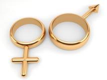 γυναίκα σημαδιών ανδρών Στοκ φωτογραφία με δικαίωμα ελεύθερης χρήσης