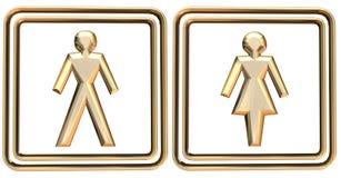 γυναίκα σημαδιών ανδρών Στοκ Εικόνες