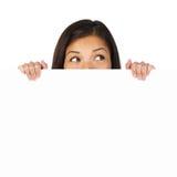 γυναίκα σημαδιών στοκ φωτογραφίες με δικαίωμα ελεύθερης χρήσης