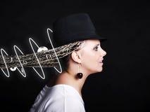 γυναίκα σημειώσεων πλεξ&o Στοκ Εικόνα