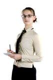 γυναίκα σημειώσεων Στοκ φωτογραφία με δικαίωμα ελεύθερης χρήσης