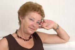 γυναίκα σκέψεων Στοκ φωτογραφία με δικαίωμα ελεύθερης χρήσης