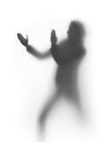 γυναίκα σκιαγραφιών μαχη&ta Στοκ φωτογραφία με δικαίωμα ελεύθερης χρήσης