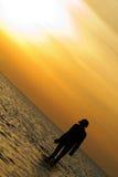 γυναίκα σκιαγραφιών Στοκ εικόνα με δικαίωμα ελεύθερης χρήσης