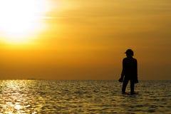 γυναίκα σκιαγραφιών Στοκ φωτογραφία με δικαίωμα ελεύθερης χρήσης