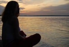 γυναίκα σκιαγραφιών Στοκ Φωτογραφίες