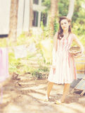 γυναίκα σκοινιών για άπλω& Στοκ Εικόνα