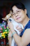 γυναίκα σκυλιών Στοκ Φωτογραφία