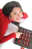 Γυναίκα σοκολάτας στοκ φωτογραφία με δικαίωμα ελεύθερης χρήσης