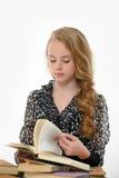 Γυναίκα σπουδαστής με τα βιβλία Στοκ εικόνα με δικαίωμα ελεύθερης χρήσης
