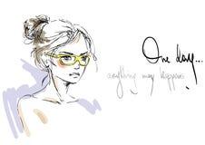 Γυναίκα στα γυαλιά ηλίου διανυσματική απεικόνιση