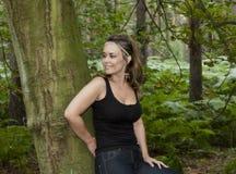 Γυναίκα στα δάση Στοκ Φωτογραφίες