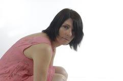 Γυναίκα στην άσπρη ανασκόπηση στοκ εικόνα με δικαίωμα ελεύθερης χρήσης
