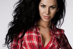 Γυναίκα στην κόκκινη μπλούζα Στοκ εικόνα με δικαίωμα ελεύθερης χρήσης