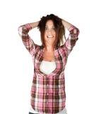 Γυναίκα στην πίεση Στοκ εικόνες με δικαίωμα ελεύθερης χρήσης
