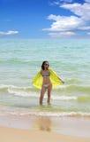 Γυναίκα στην παραλία. στοκ εικόνες