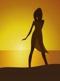 Γυναίκα στην παραλία Στοκ Φωτογραφία
