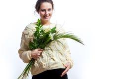 Γυναίκα στην τελευταία εγκυμοσύνη της Στοκ εικόνες με δικαίωμα ελεύθερης χρήσης
