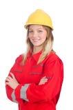 Γυναίκα στη βιομηχανική έννοια Στοκ φωτογραφία με δικαίωμα ελεύθερης χρήσης
