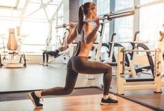 Γυναίκα στη γυμναστική Στοκ Εικόνες