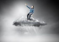Γυναίκα στον ουρανό Στοκ Φωτογραφίες