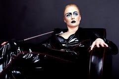 Γυναίκα στο λατέξ στοκ φωτογραφία με δικαίωμα ελεύθερης χρήσης