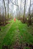 Γυναίκα στο δάσος μόνο Στοκ φωτογραφίες με δικαίωμα ελεύθερης χρήσης
