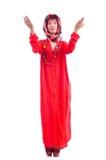 Γυναίκα στο κόκκινο scaf Στοκ φωτογραφία με δικαίωμα ελεύθερης χρήσης