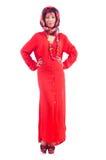 Γυναίκα στο κόκκινο scaf Στοκ εικόνα με δικαίωμα ελεύθερης χρήσης