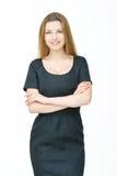 Γυναίκα στο μαύρο φόρεμα Στοκ φωτογραφία με δικαίωμα ελεύθερης χρήσης