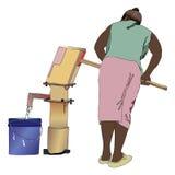 Γυναίκα στο νερό φρεατίων απεικόνιση αποθεμάτων