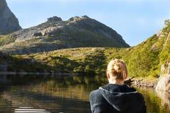 Γυναίκα στο νερό Στοκ φωτογραφία με δικαίωμα ελεύθερης χρήσης