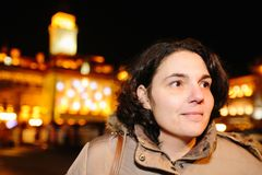 Γυναίκα στο Νόβι Σαντ στοκ εικόνες με δικαίωμα ελεύθερης χρήσης