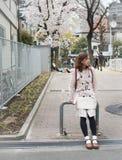 Γυναίκα στο πάρκο στη Kita -Kita-ku, Οζάκα, Ιαπωνία στοκ εικόνα με δικαίωμα ελεύθερης χρήσης