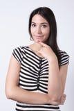 Γυναίκα στο πουκάμισο Στοκ φωτογραφία με δικαίωμα ελεύθερης χρήσης
