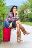 Γυναίκα στο δρόμο στοκ φωτογραφία με δικαίωμα ελεύθερης χρήσης