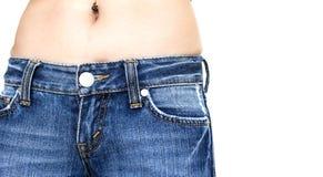 Γυναίκα στο τζιν παντελόνι Στοκ Εικόνα