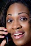 Γυναίκα στο τηλέφωνο στοκ εικόνα