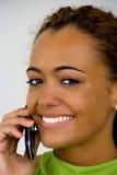 Γυναίκα στο τηλέφωνο στοκ φωτογραφία με δικαίωμα ελεύθερης χρήσης