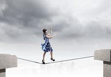 Γυναίκα στο blindfold Στοκ εικόνα με δικαίωμα ελεύθερης χρήσης