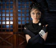 Γυναίκα στο Castle στοκ εικόνες