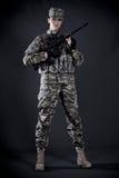 γυναίκα στρατιωτών Στοκ Εικόνες
